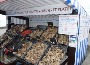 Cancale, ostriche in vendita