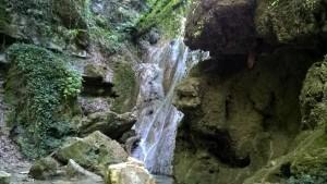Cascate Bucamante, cascata area di sosta