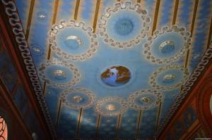 Bnetivoglio, Palazzo Rosso, Sala dello Zodiaco, soffitto
