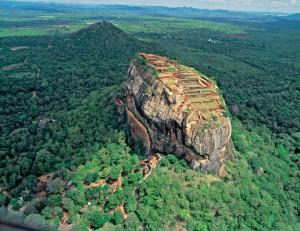 La Rocca del Leone di Sigiriya vista dall'alto