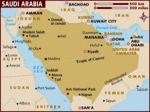 Collocazione de La Mecca e Medina nell'attuale Arabia Saudita
