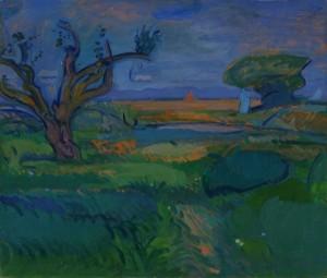 Gino Rossi, paesaggio di Burano, 1912, Verona, Fondazione Domus