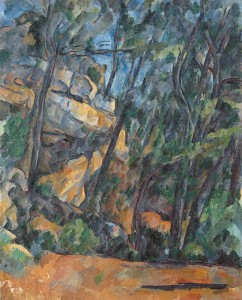 Alberi e rocce nel parco di Chateau Noir (1904-1906) di Paul Cézanne
