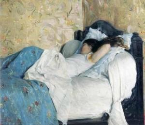 Au lit, 1878, Federico Zandomeneghi
