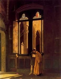 Il Palazzo Pretorio, 1865, periodo fiorentino, Federico Zandomeneghi