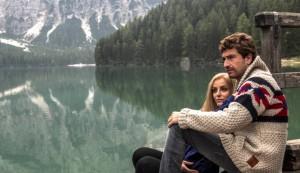 Mister Felicità, scena del film girato al lago di Braies