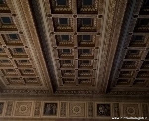 Imola, Palazzo Sersanti già Palazzo Riario, soffitto di una sala