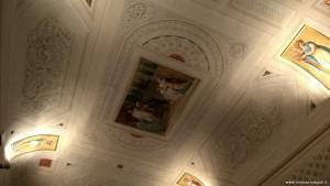 Imola, Palazzo Tozzoni, appartamento Impero, decorazioni soffitto