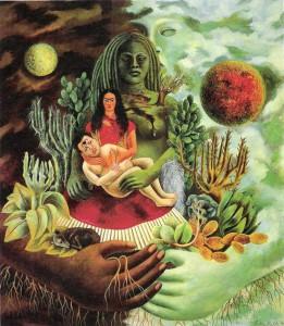 L'abbraccio amorevole dell'Universo di Frida Kahlo, 1949