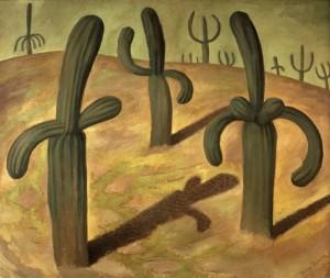 Paesaggio con cactus, Diego Rivera