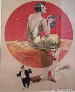 Ragazza con grappolo d'uva, 1919, tempera su carta di Lutz Ehrenberger, MAGI '900