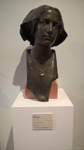 Testa di fanciulla, bronzo, Edgardo Rubino, mostra Omaggio alla femminilità nella Belle Epoque, MAGI '900