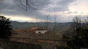 Longiano, veduta sulle colline dal Castello Malatestiano