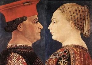 Bianca Maria Visconti e Francesco Sforza in un ritratto di Bonifacio Bembo, Pinacoteca di Brera
