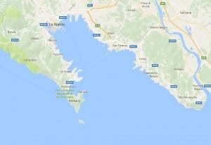 Golfo dei Poeti, mappa (fonte Google maps)