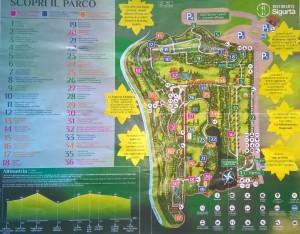 Mappa del Parco Giardino Sigurtà
