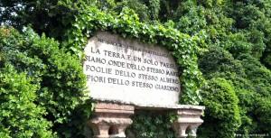 Parco Giardino Sigurtà, Castelletto, messaggio di fratellanza