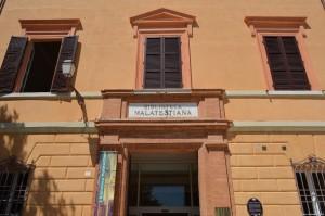 Cesena, Biblioteca Malatestiana, ingresso