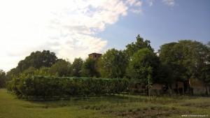 Bentivoglio, Tenuta di Villa Smeraldi, torre e frutteto