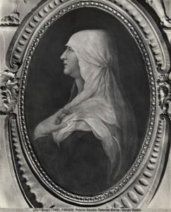 Caterina Sforza in un ritratto di Giorgio Vasari, Palazzo Vecchio, Firenze