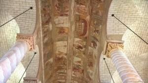 Saint Savin, Chiesa Abbazia, affreschi soffitto