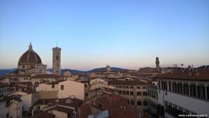 Firenze, panorama sul centro storico dalla terrazza di Palazzo Gaddi, si notano la Cattedrale e, a destra, il Palazzo Vecchio
