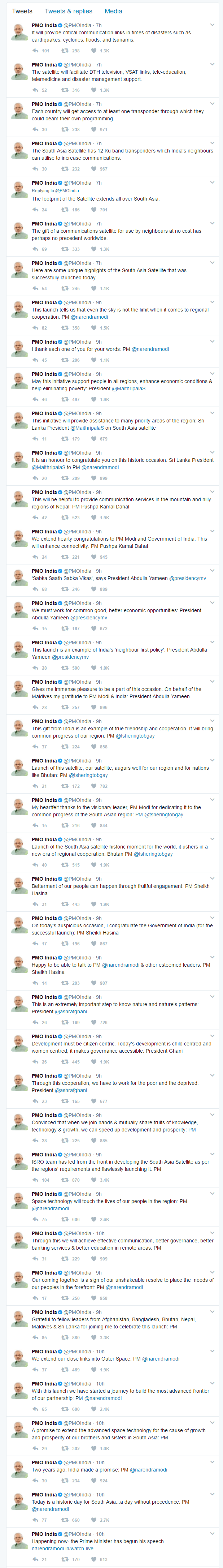 Tweets from PMO
