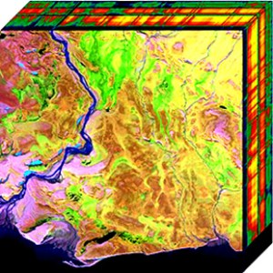 Two-dimensional projection of a hyperspectral cube
