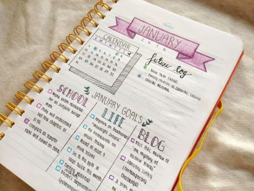 exemple de bullet journal ou BuJo
