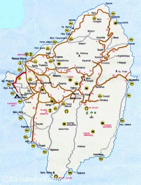 mappa naxos