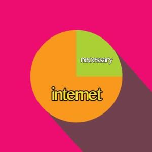Grafico a torta che mostra la percentuale di rete necessaria