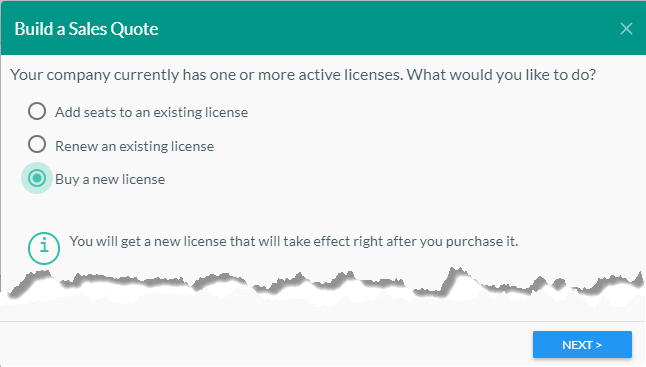 Buy a New License
