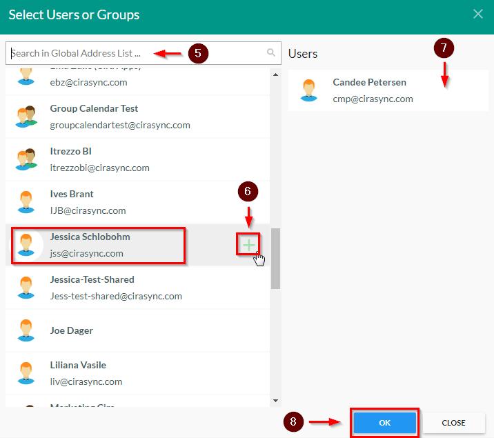 CiraSync Users Or Groups