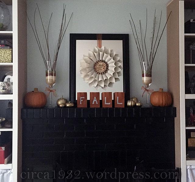 DIY fall mantle