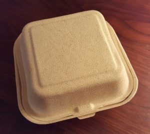 bagasse disposable food container
