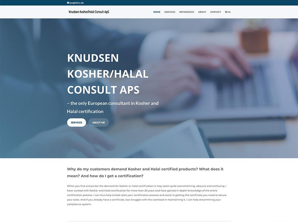 webdesign af forside tekst kkhc