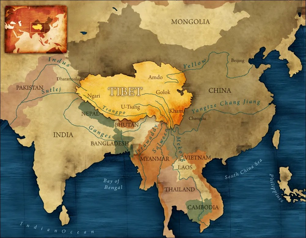 tibet plateau on world map China Tibet And The Strategic Power Of Water Circle Of Blue