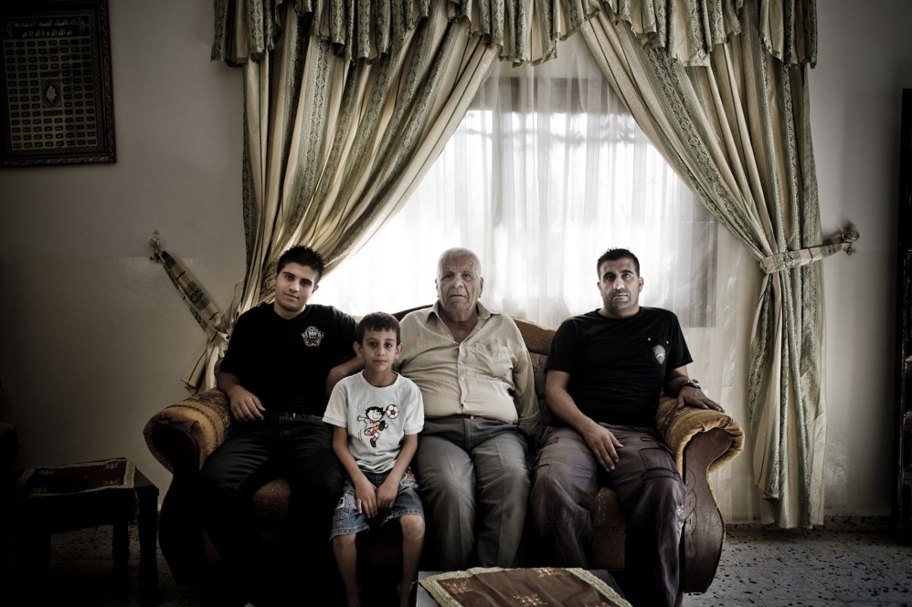 A family is forced to use brackish water in the Jordan Valley.
