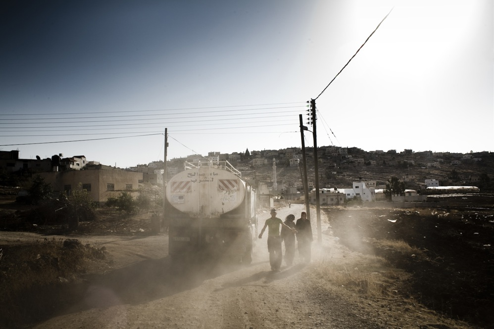 Water tankers are vital to unconnected villages.