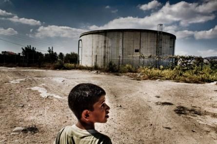 At Silat al Harithya village, an empty cistern.