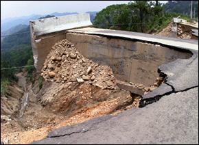 Mudslide Damage in Taiwan