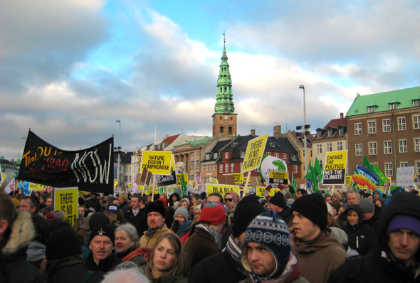 Copenahagen Demonstrations and Protests for Climate Change Treaty