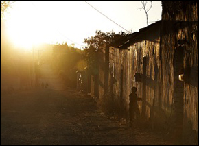 The dusty village life near San Marcos Tlacoyalco.