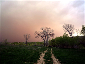 Colorado dust storm.