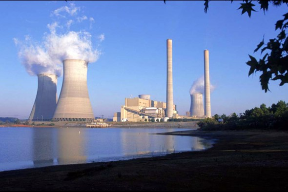 Coal plant Water Energy Georgia closed-loop cooling withdraws once-through system
