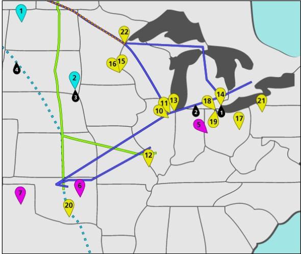 Tar Sands Oil Pipelines Refineries Map Water Energy