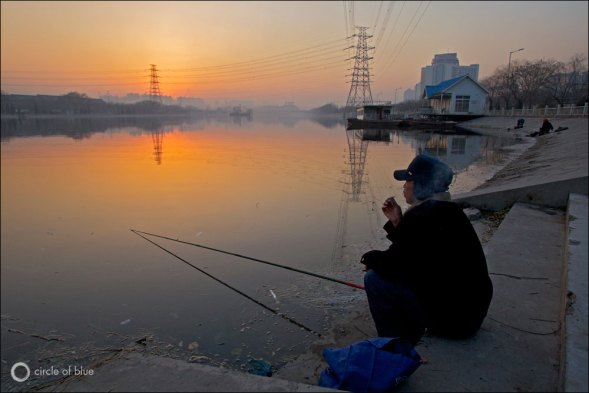 Though the Yellow River's water is fouled with debris and industrial pollutants, it continues to be a focus of China's fishing families.