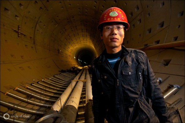 Central Line South-North Water Transfer Project Tunnel Construction Worker Beijing China Aaron Jaffe Circle of Blue