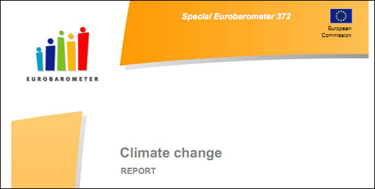 Eurobarometer Survey: Europeans Say Climate Change More Dire Than Economic Situation