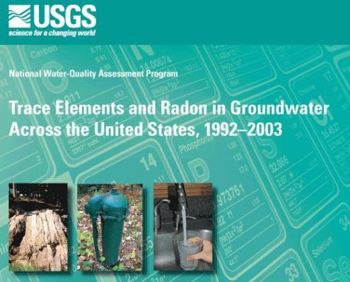 USGS groundwater water pollution contamination 2011 report arsenic manganese radon uranium